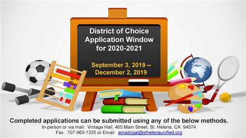 District of Choice Announcement