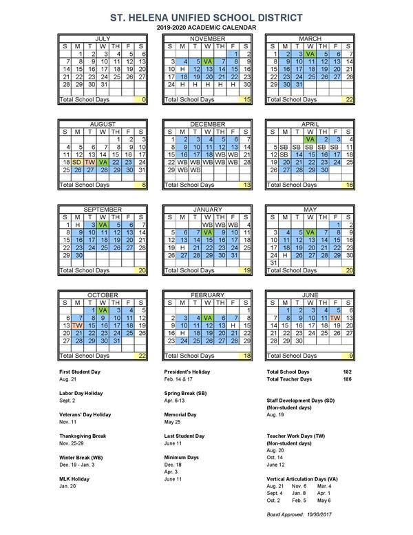 Srjc Academic Calendar 2020 Academic Calendar / 2019 2020